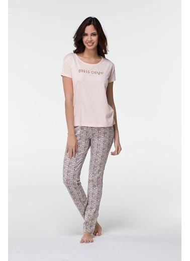 Hays Miss Cave Kadın Penye Kısa Kollu Alt Uzun Pijama Takımı